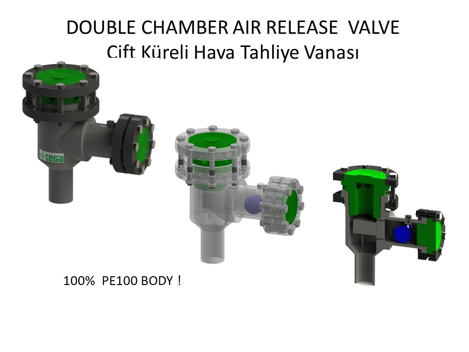 çift küreli hava tahliye vanasi - double chamber air release valfe